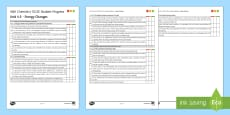 AQA Chemistry Unit 4.5 Energy Changes Student Progress Sheet