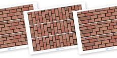 Materials Display Border (Brick Wall)