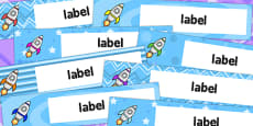 Australia - Rocket Themed Gratnells Tray Labels
