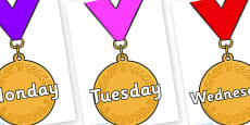 Days of the Week on Gold Medal