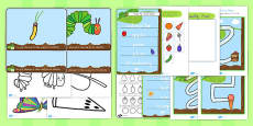 Australia - Fine Motor Skill Resource Pack to Support Teaching on The Very Hungry Caterpillar