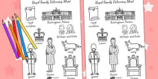 Australia - Royal Family Words Colouring Sheet