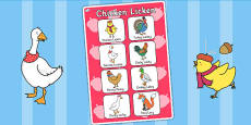 Chicken Licken Vocabulary Poster