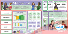 PlanIt Y3 Addition and Subtraction Display Pack