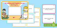 * NEW * \'We Are Learning To\' Early Level Literacy and English Display Poster