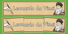 Leonardo da Vinci Display Banner