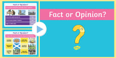 CfE First Level Literacy and English Fact or Opinion PowerPoint