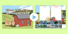 The Three Little Pigs Interactive Sorting Activity