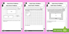 * NEW * Scale Factor Problems Differentiated Activity Sheets