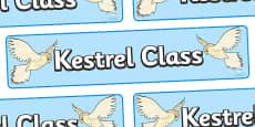 Kestrel Class Display Banner