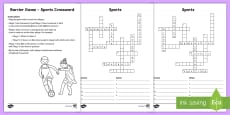 Jobs Barrier Game Crossword