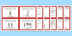 Citirea ghidată, elementele unei povești - Cartonașe cu activități