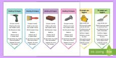 Reading Strategies Bookmarks English/Italian