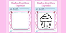 Design a Cupcake Colouring Sheets