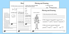 Moving and Growing Activity Sheet