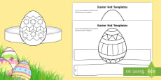 Easter Hat Templates Activity Sheet