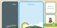* NEW * Morning and Night Sorting Activity