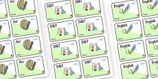 Acorn Themed Editable Book Labels