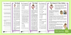 KS1 The Emperor's New Clothes Differentiated Reading Comprehension Activity