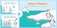 Royal Penguins Rhyme Song PowerPoint