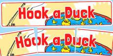 Hook a Duck Banner (School Fair)