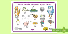 The Owl and The Pussycat Word Mat English/Romanian