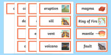 Volcano Word Cards