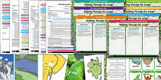 EYFS Bumper Planning Pack to Support Teaching on Walking Through the Jungle