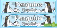 Penguins Display Banner English/Polish