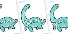 Days of the Week on Pleseosaur Dinosaurs
