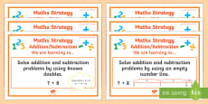 Addition/Subtraction Stage 5 WALT Display Posters