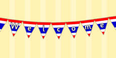 Thai Flag Welcome Display Bunting