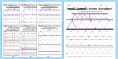 Pencil Control Pattern Workbook