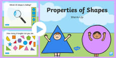 Year 1 Properties of Shape Warm-Up PowerPoint