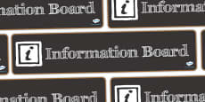 Information Board Display Banner