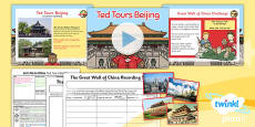 PlanIt - Geography Year 2 - Let's Go to China Lesson 3: Ted Tours Beijing Lesson Pack