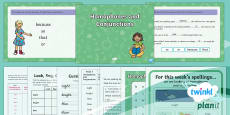 PlanIt English Y2 Term 3B W3: Homophones and Conjunctions Spelling Pack