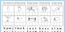 CVCC Cut and Paste Activity Sheet