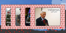 Remembrance Day Display Photos Arabic Translation