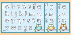 Superb Owl Themed Letter Writing Activity Sheet