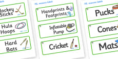 Cypress Tree Themed Editable PE Resource Labels