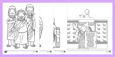 Daniel And The Lions Den Story Colouring Sheets