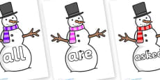 Tricky Words on Snowman