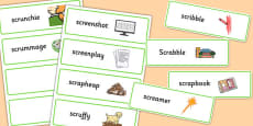 Two Syllable SCR Word Cards
