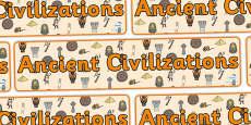 Ancient Civilizations Display Banner