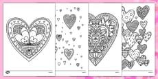 Coloriages anti-stress : Les coeurs