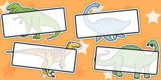 Editable Self Registration Labels (Dinosaurs)