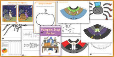 Halloween Activity and Paper Model Resource Pack