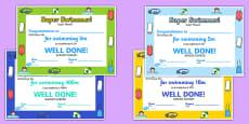 Swimming Certificates Polish Translation
