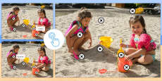 * NEW * Beach Holiday Stimulus Questions and Picture Hotspot French